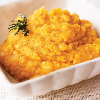 Butternut Squash and Potato Mash with ThymeRecipe