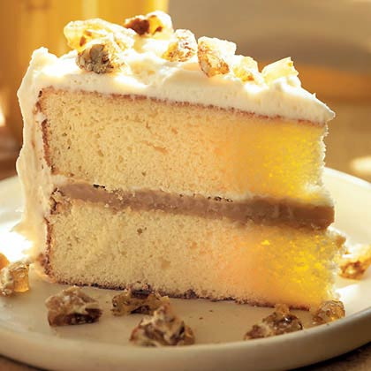 Caramel Cake with Cream Cheese Frosting Recipe