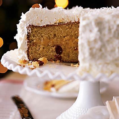 Lemon Coconut Cake with Whipped Cream FrostingRecipe