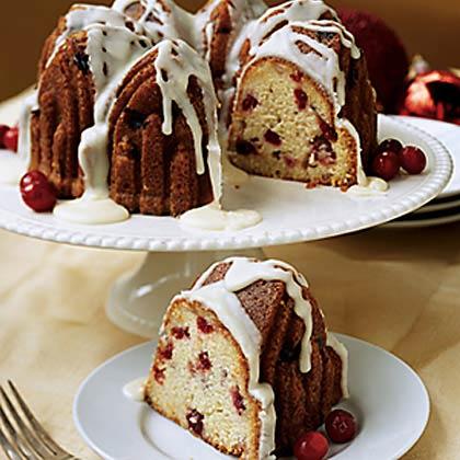 Orange-Glazed Cranberry Pound Cake