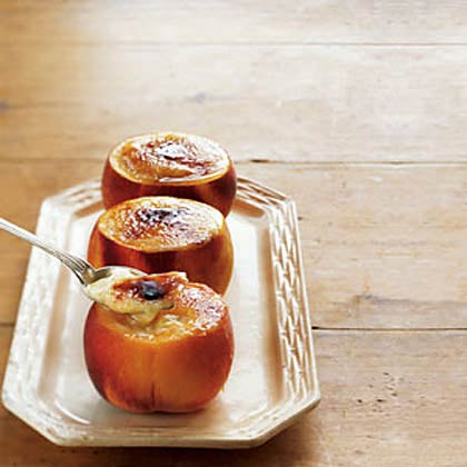 Peaches and Cream Brûlée
