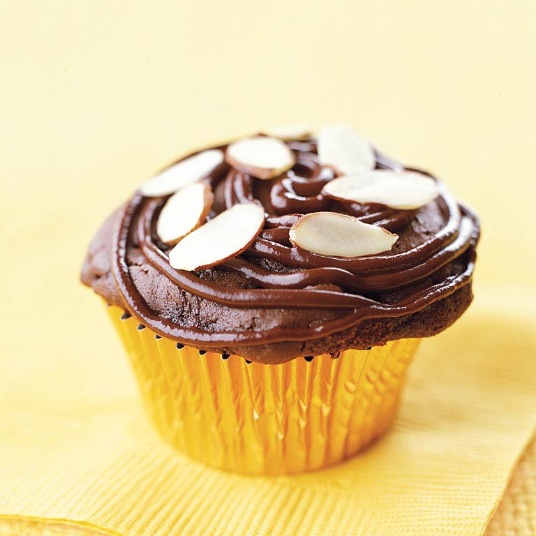 Chocolate Almond Cupcakes