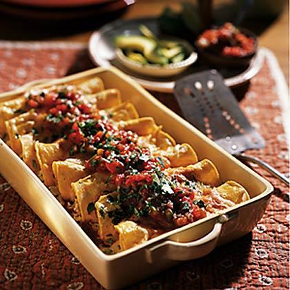 Weeknight Chicken Enchiladas Recipe