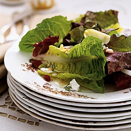 Mixed Green Salad with Orange, Cranberry, Chèvre, and Maple-Sherry VinaigretteRecipe