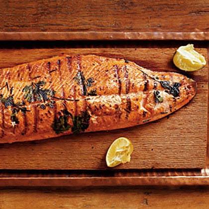 Grilled Wild Salmon with Cucumber-Avocado Salsa Recipe