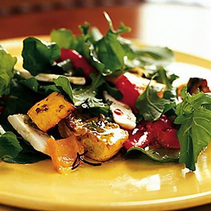 Roasted Pepper, Squash, and Feta Salad