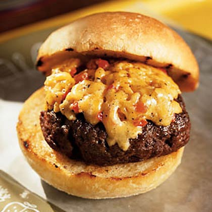 Pimento Cheese Gilded Burger Recipe Myrecipes
