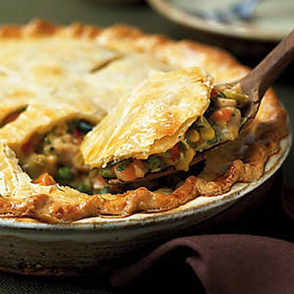 Pioneer chicken pies were most likely cooked in a Dutch oven over hot coals, and the women would have used whatever vegetables they happen to have in the garden at the time. A pot pie would have been the perfect dish to serve if Reverend Alden came for Sunday dinner.Recipe: Chicken Pot Pie