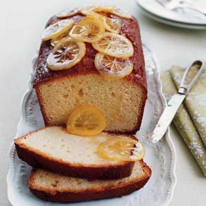 Lemon Pound Cake with Candied Lemon Slices