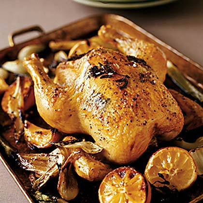 ... and lemon here is an easy roast chicken lemon thyme roast chicken with