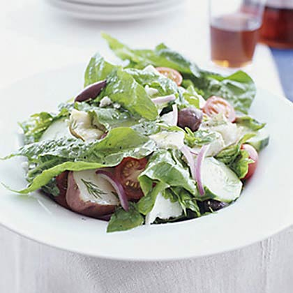 Spinach Salad with Feta, New Potatoes, and Artichokes Recipe