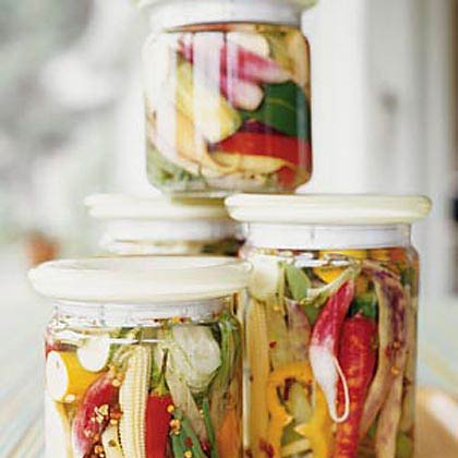 Spicy Pickled Summer Vegetables