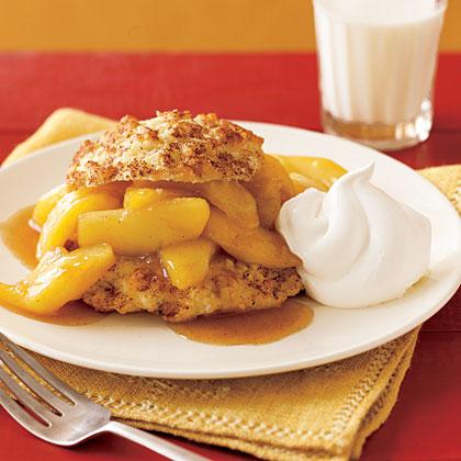 Fresh Apples Foster Shortcake