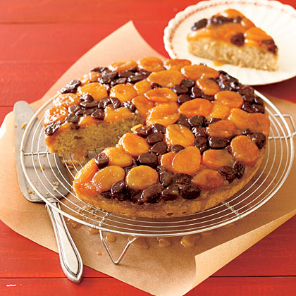 Apricot-Cherry Upside-Down Cake Recipe