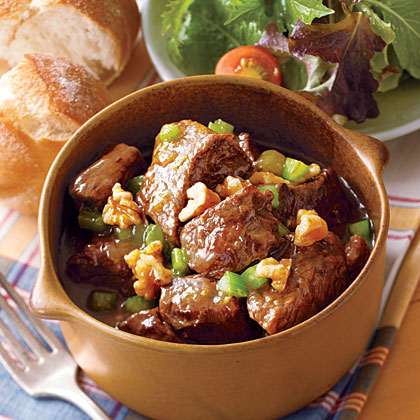 Beef Stew with Walnuts and Orange Zest
