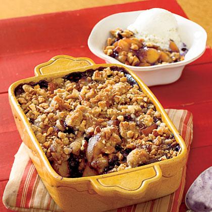 Peach-Blueberry Crumble Recipe