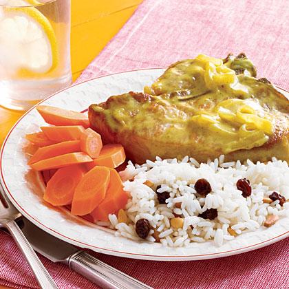 Sautéed Pork Chops with Curry Sauce