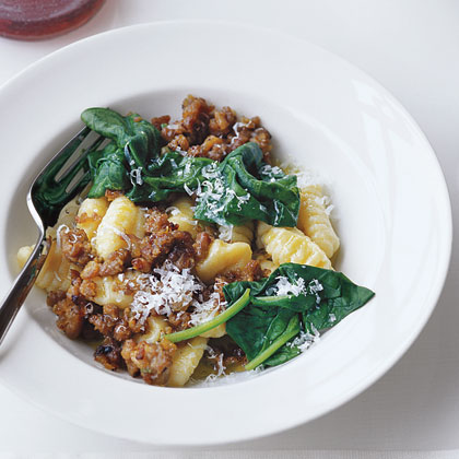 Gnocchi with Sausage and SpinachRecipe