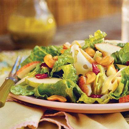 Apple-Pear Salad With Lemon-Poppy Seed Dressing Recipe | MyRecipes.com