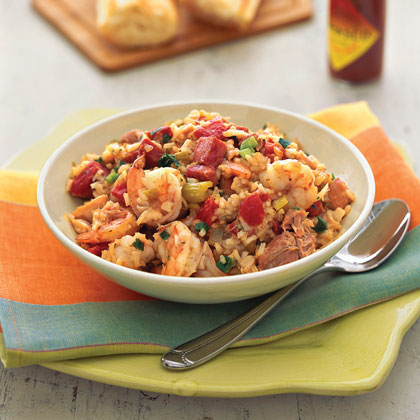 Chicken, Shrimp, and Ham Jambalaya