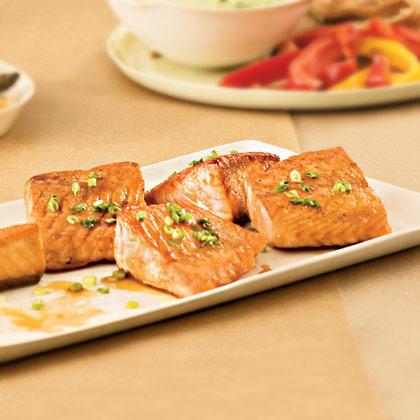 Salmon With Ginger-Orange Glaze