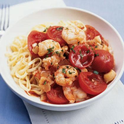 Shrimp and Scallop Arrabbiata