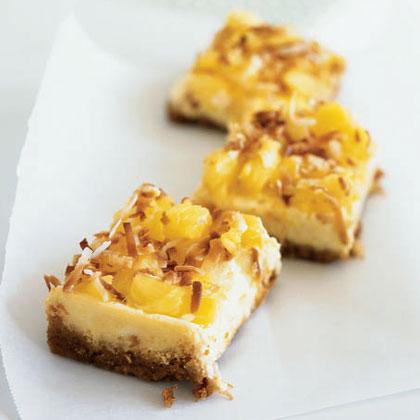 Piña Colada Cheesecake BarsRecipe