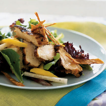 Grilled Chicken, Mango, and Jicama Salad with Tequila-Lime Vinaigrette Recipe