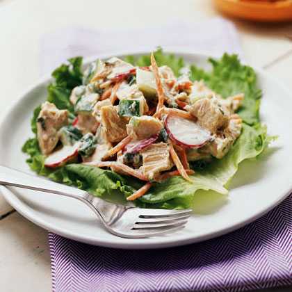 Chicken, Carrot, and Cucumber Salad