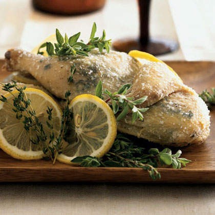 Salt-Crusted Herbed Cornish Hen