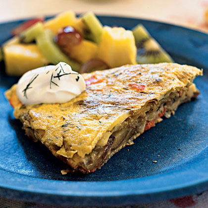Smoked Salmon and Dill Tortilla