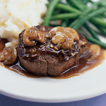 Filet Mignon With Herb-Butter Sauce And Mushrooms Recipes ...