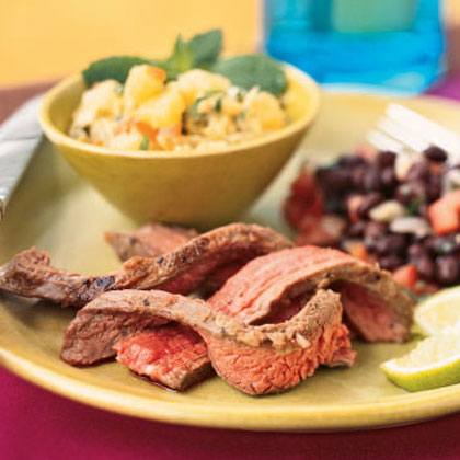 <p>Flank Steak with Chunky Mojo Relish</p>
