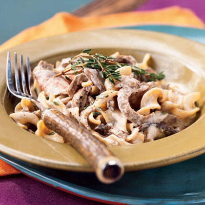 Flank Steak with Creamy Mushroom Sauce