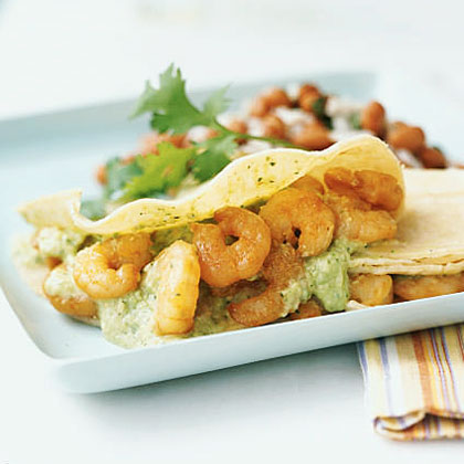 Spicy Shrimp Tacos with Tomatillo Salsa Recipe