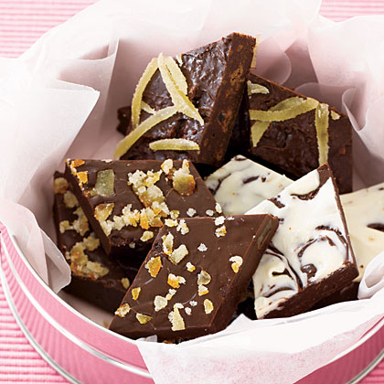 Crunchy Chocolate-Ginger Fudge