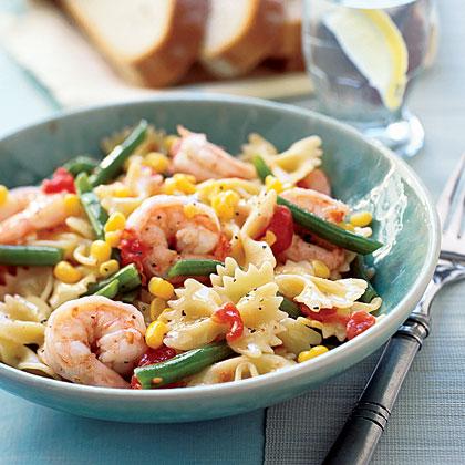 Pasta with Shrimp and VeggiesRecipe