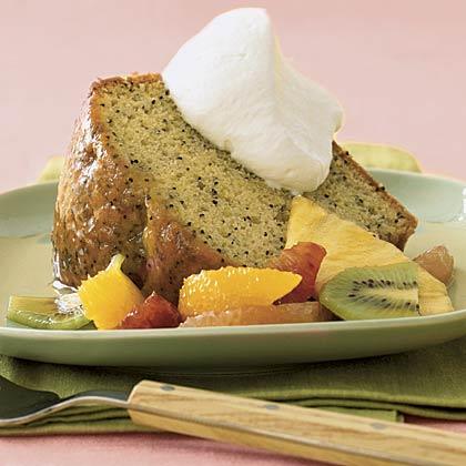 Orange Poppy Seed Cake With Citrus Salad