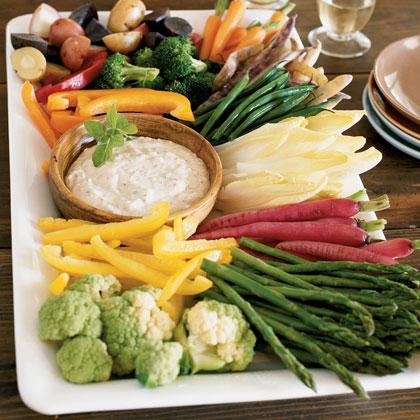 Crudité Platter with Roasted Garlic Aioli Recipe