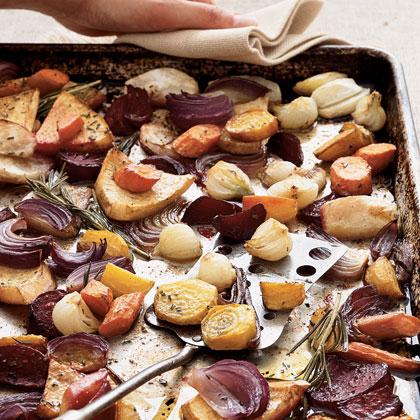 Balsamic-Rosemary Roasted Root Vegetables
