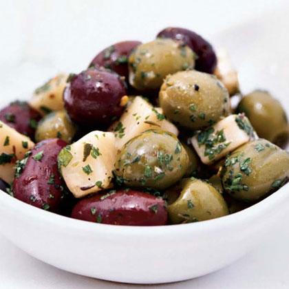 Marinated Olives and Manchego