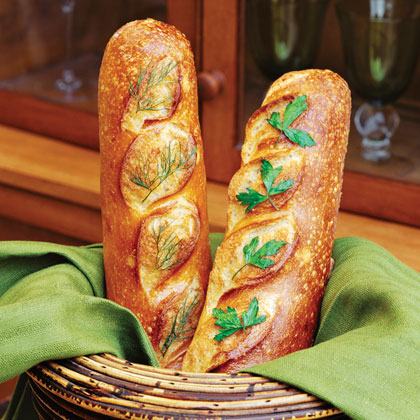 Herb-Topped Bread