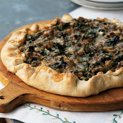 Spring Onion and Morel Galette Recipe