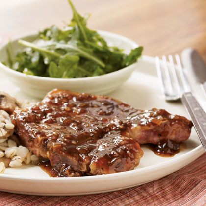 Pan-Seared Pork Chops with Red Currant Sauce Recipe ...