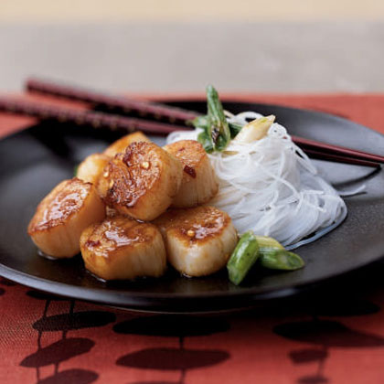Seared Scallops with Citrus Ginger Sauce