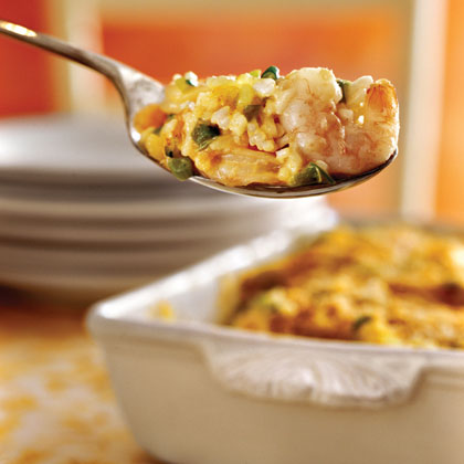 """""""Being Cajun, I know what a good seafood dish should taste like, and this was great!! My husband loved it too. It's even better as leftovers. I served it with garlic bread and a tossed salad."""" -LillShrimp Casserole Recipe"""