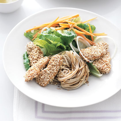 Sesame Chicken and Soba Noodles