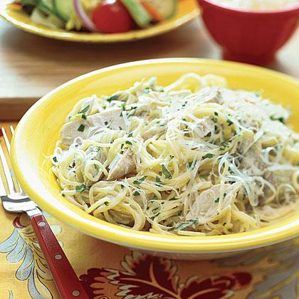Pasta with Chicken and Artichokes Recipe