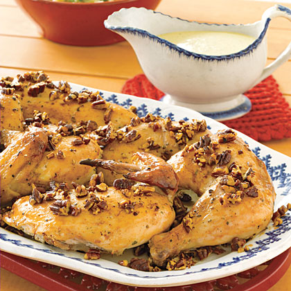 Ranch Roasted Chicken with Creamy PestoRecipe