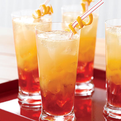 Zingy Orange Sunset Fizz Recipe Myrecipes Com